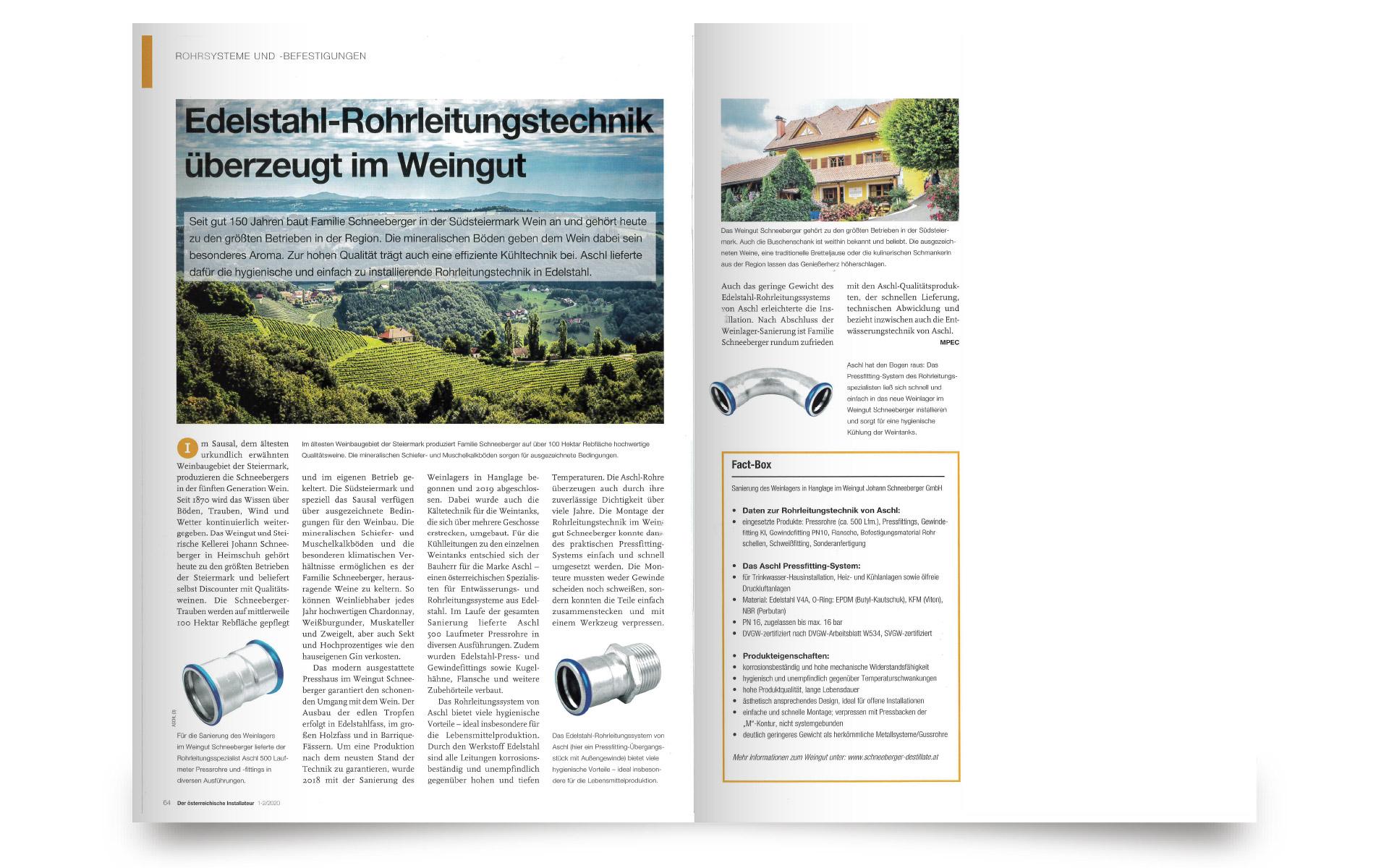 Der österreichische Installateur - Weingut Schneeberger