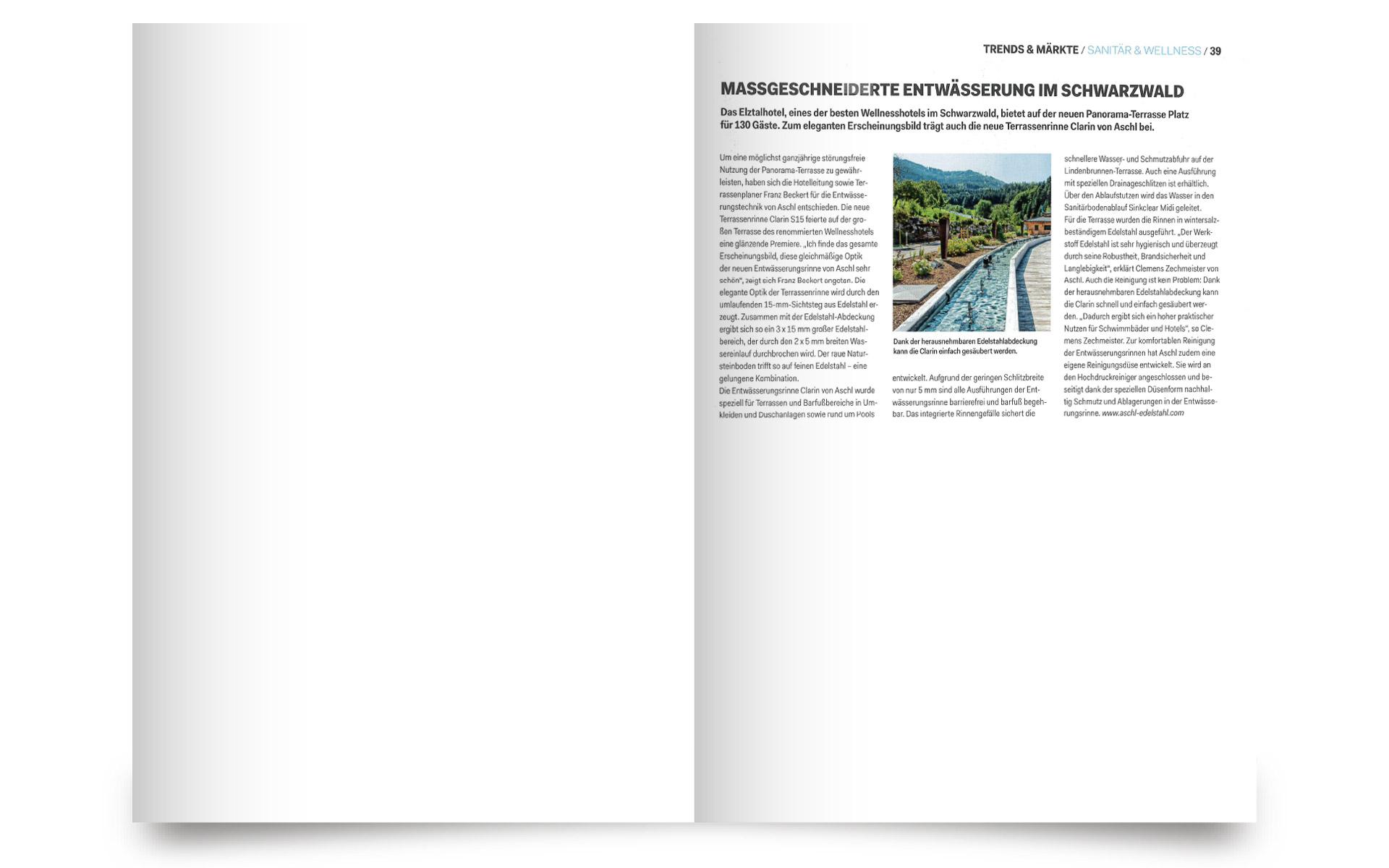 Maßgeschneiderte Entwässerung im Schwarzwald